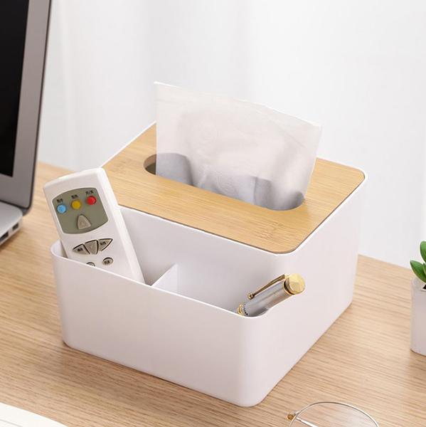 【網特生活】創意時尚木蓋面紙盒.居家衛生紙抽取式收納遙控器