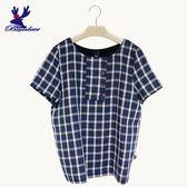 American Bluedeer-棉麻格紋上衣(魅力價)