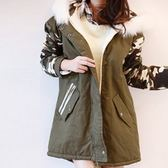 迷彩外套-韓版連帽時尚保暖女夾克3色71aj46[時尚巴黎]