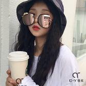 太陽眼鏡韓版超大框顯瘦女太陽鏡新款圓臉墨鏡男士百搭情侶眼鏡 喵小姐