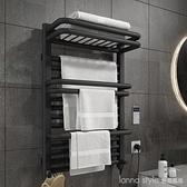 智慧電熱毛巾架家用浴室衛生間電加熱恒溫碳纖維烘干架浴巾置物架 新品全館85折 YTL