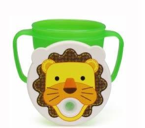 『121婦嬰用品館』愛兒房 愛迪生防漏吸管握把水杯250ml-獅子