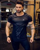 肌肉兄弟健身T恤男彈力緊身速干籃球打底短袖跑步健身房訓練上衣t