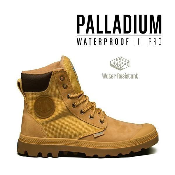 【南紡購物中心】【PALLADIUM】PAMPA SPORT CUFF WPN 防水牛巴戈拼接軍靴 / 棕 男女鞋