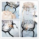 [協貿國際]復古清新Mason密封瓶玻璃瓶玻璃壺冰桶自制水果汁飲料桶1入