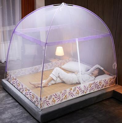 蚊帳 免安裝蒙古包蚊帳1.5m床1.8m雙人家用加密加厚1.2米單人學生宿舍TW【快速出貨八折下殺】