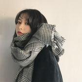 韓版格子圍巾女冬季長款學生針織秋冬百搭披肩 LQ768『夢幻家居』