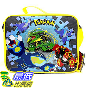 [美國直購] 神奇寶貝 精靈寶可夢周邊 Nintendo Pokemon B01IL4KWWM Starters 8吋 Canvas Black Insulated Lunch Bag