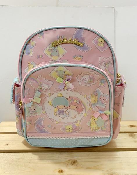 【震撼精品百貨】Little Twin Stars KiKi&LaLa_雙子星小天使~Sanrio兒童後背包-彩虹#30590