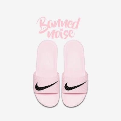 NIKE BENASSI SOLARSOFT TB 粉紅 淺粉 黑勾 軟底 拖鞋 女鞋