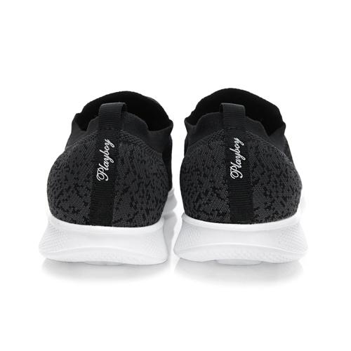 PLAYBOY 彩織時尚 超輕量針織襪套休閒鞋-黑(女)