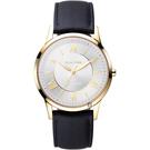 Relax Time RT58 經典學院風格腕錶-金框x咖啡/42mm RT-58-15M