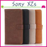 Sony XZs G8232 5.2吋 復古皮套 瘋馬紋手機殼 商務素面保護套 支架 錢包式手機套 磁扣保護殼 可插卡