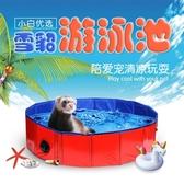 *游泳池游泳圈*寵物貂小龍貂瑪雪兒玩具洗澡游泳健身小寵專用 城市科技