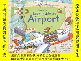 二手書博民逛書店Look罕見Inside an Airport (Usborne Look Inside)Y25599 Rob