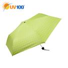 UV100 防曬 抗UV-晴雨三折傘-簡約格紋