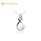 珍珠 925純銀「溫馨項鍊」時尚天然珍珠...