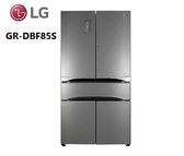 【福利品特價↙+24期0利率】LG樂金 WiFi GR-DBF85S  鮮活 六門冰箱 門中門 鑽紋銀 836公升 對開冰箱