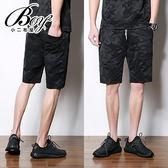 短棉褲  3D黑迷彩短褲運動褲棉褲【NZ71712】