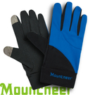 【Mountneer 山林 中性抗UV觸控手套 寶藍】11G01/觸控手套/觸控手機/手套