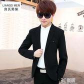 青少年春季小西裝男修身韓版學生休閒西服男士青春流行薄外套單西 3c優購