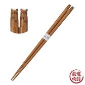 【日本製】【Fluffy】造型木筷 圓點貓款 22.5cm(一組:3個) SD-13627 - Fluffy