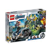 76142【LEGO 樂高積木】漫威英雄系列 Marvel - 復仇者摩托車襲擊