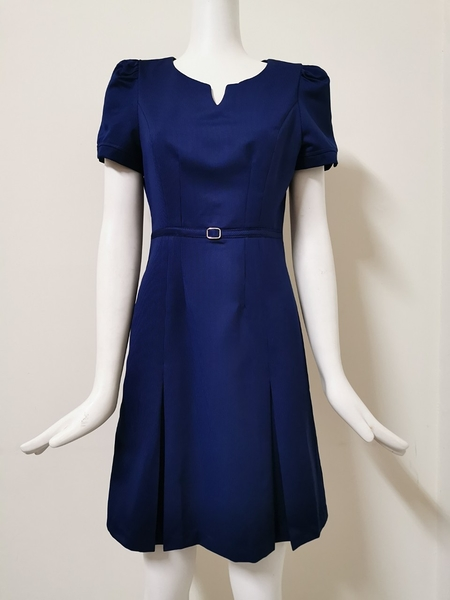 【傑門凱立GK-702D】亮寶藍-OL職業女洋裝/女套裝/連身裙/夏季女洋裝/上班族辦公室櫃台時尚氣質