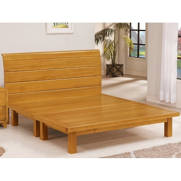 床架 床台 AT-566-2 貝雅6尺實木雙人床 (不含床墊) 【大眾家居舘】