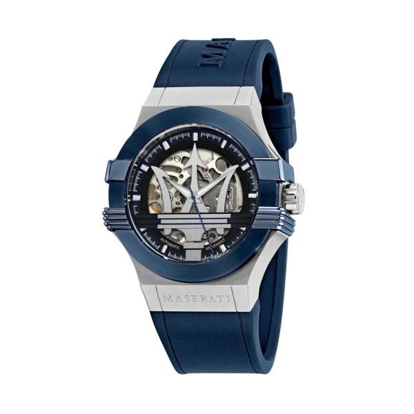 【Maserati 瑪莎拉蒂】POTENZA 經典LOGO鏤空機械矽膠腕錶/R8821108028/台灣總代理公司貨享兩年保固