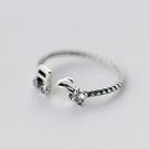 戒指 925純銀鑲鑽-可愛音符生日母親節...