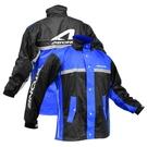 【東門城】ASTONE RA-505 兩件式運動型雨衣 附鞋套 (黑/藍)