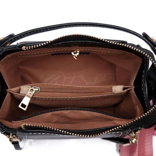 時尚單肩水桶包韓版純色簡約個性斜挎手提包
