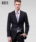 西裝套裝含西裝外套+褲子-必買簡潔商務成套男西服2色6x56【巴黎精品】