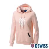 K-SWISS Shield Logo Hoodie刷毛連帽上衣-女-粉紅