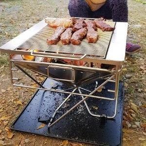 ♥巨安網購♥【107022121】大型摺疊收納焚火台 烤肉架