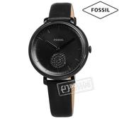 FOSSIL / ES4490 / 極簡主義 經典酷黑 獨立秒針 礦石強化玻璃 日本機芯 真皮手錶 黑色 36mm