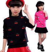 童裝女春秋款女童毛衣套頭針織衫秋冬款加厚打底衫中大童兒童上衣