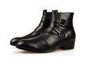 【找到自己】牛皮軍靴  高跟鞋 真皮 英倫高幫靴 馬丁靴男靴子短靴 潮流男鞋皮靴