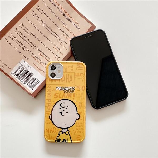 半身史努比查理布朗 適用 iPhone12Pro 11 Max Mini Xr X Xs 7 8 plus 蘋果手機殼
