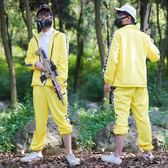 絕地求生吃雞上衣褲子COS服男小黃衣美團服運動套裝COS服【奇貨居】