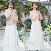新款古裝漢服 明制改良日常繡花交領上衣衫裙仙氣女裝表演服