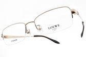 LOEWE 光學眼鏡 VLW447K 300 (金) 紳士氣質半框款 # 金橘眼鏡