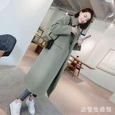 中大尺碼毛呢外套女 冬季女大衣中長款韓版呢子大衣學生女裝 nm11100【歐爸生活館】