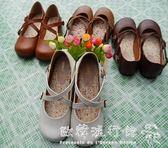 娃娃鞋   學生演出小皮鞋森女繫搭扣小清新平底可愛圓頭女鞋  歐韓流行館