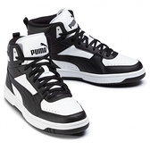 PUMA REBOUND JOY 男款黑x白高筒休閒籃球鞋-NO.37476501
