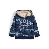 Gap 男幼童 Logo長袖連帽休閒外套 474676-藍色迷彩