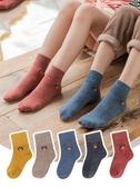 兒童襪子 兒童襪子純棉秋冬季嬰兒寶寶加絨加厚男童女童中大童保暖中筒棉襪