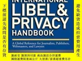 二手書博民逛書店International罕見Libel And Privacy Handbook: A Global Refer