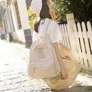 帆布後背包女日系大學生百搭簡約背包【聚寶屋】